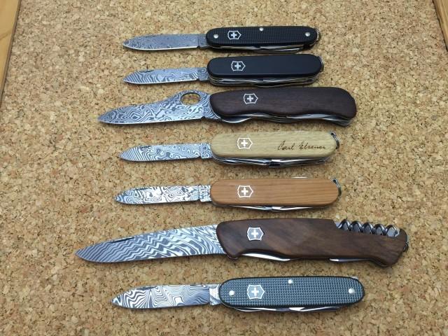 Damascus knives from 2010 till 2016