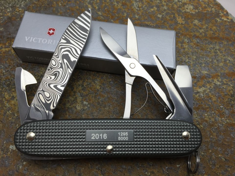 Damascus Pioneer X 2016 Swiss Knives Info